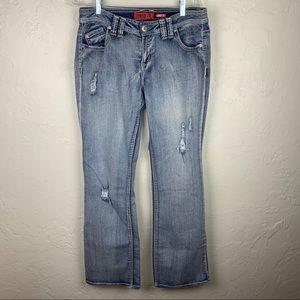 3 FOR $15! Zanadi Distressed Curvy Fit Jeans